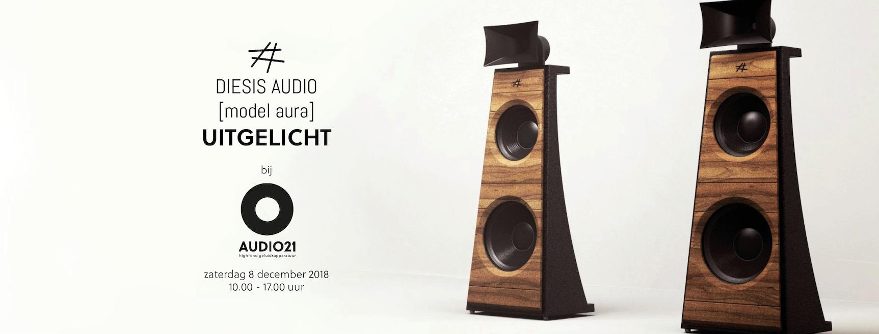 Diesis Audio Luidsprekers Bij Audio21 Demo Op 8 December