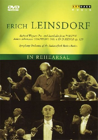 In rehearsal: Erich Leinsdorf